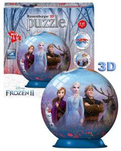 Dette 3D puslespillet har et motiv som viser Elsa, Anna, Olaf, Svein og Kristoffer fra Disney Frozen 2, og bli med når de gjør seg klar for et magisk eventyr.