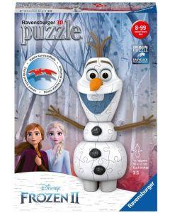 Dette 3D puslespillet har et motiv som viser Olaf fra Disney Frozen 2. Kos deg mens du setter sammen dette 3D-puslespillet i plast som består av 54 brikker.