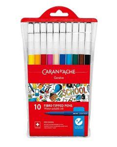 Caran d'Ache fargepenner 10 stk med lokk