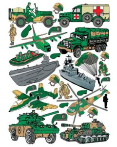 Klistremerker Militær
