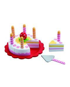 Fødselsdagskake med lys - Mamamemo