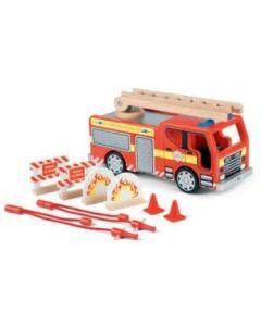 Brannbil med utstyr