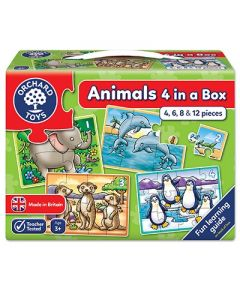 Orchard Toys - Animals four in a box Pusslespill