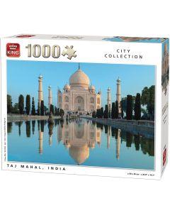 Puslespill King 1000 brikker Taj Mahal India