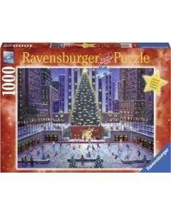 fantastisk julestemning på Rockefeller Center. Norge gir juletreet i gave.