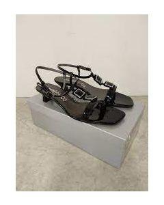 Sorte sandaler str 40