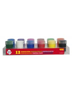 Tempermaling Sense Tempera farger i egne bokser 12 stk.