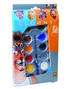 Ansiktsmalinig Klovnemaling 10 Farger