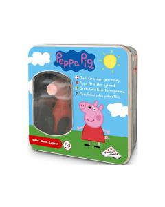 Nå kan dere leke gjemsel sammen med Peppa Gris! Gjem Peppa et sted og aktiver henne. Etter kort tid begynner hun å gi lyd fra seg og spille musikk.
