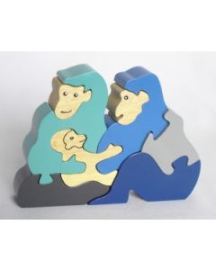 SRI Toys Klossepuslespill Gorilla Familie
