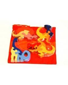 SRI Toys Klossepuslespill Sett Fire Dinosaurer