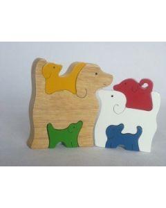 SRI Toys Klossepuslespill Hunde Familie