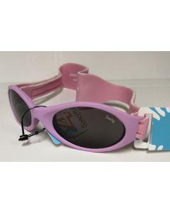 Swing barnesolbriller med strikk rosa