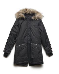 Vinterjakke med hette Hummel Stinna jakke sort barn