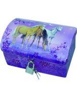 Hest - Skattekiste - lilla